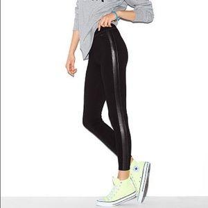 NWOT Victoria's Secret Leather Stripe Leggings